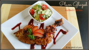 plum glazed grill chicken